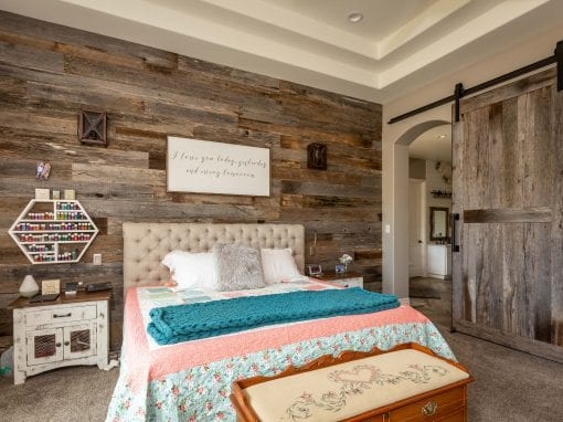 Reclaimed Wood Wall & Sliding Door