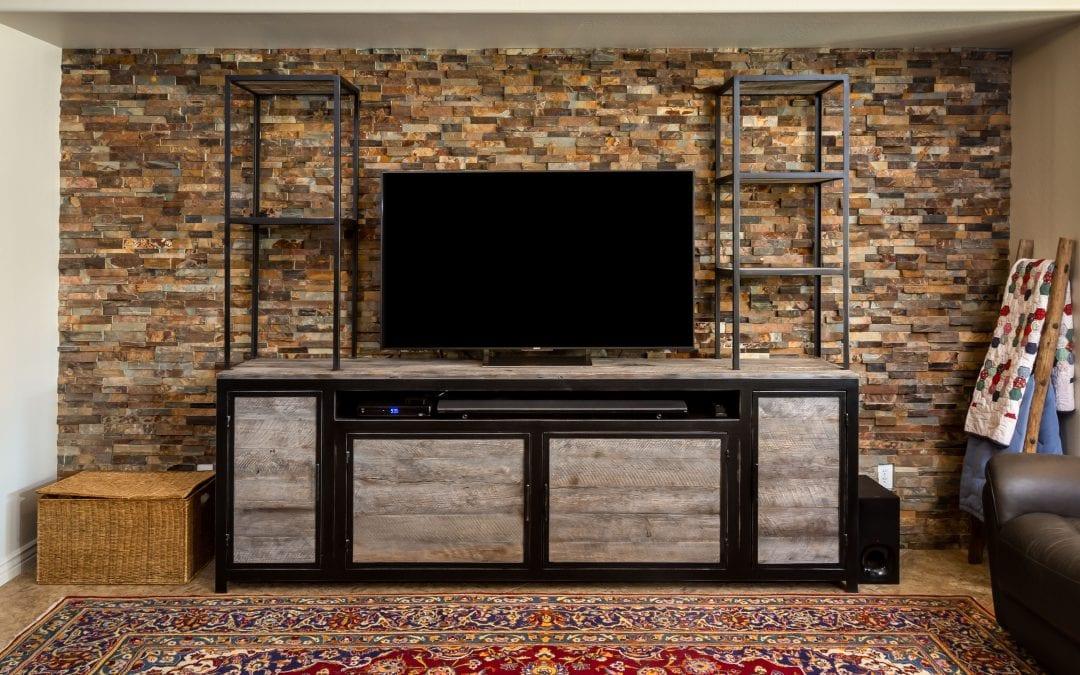 Custom Entertainment Cabinet & Shelving