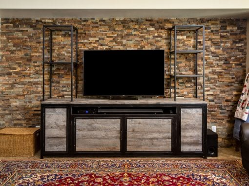 Custom Entertainment Cabinet & Shelving