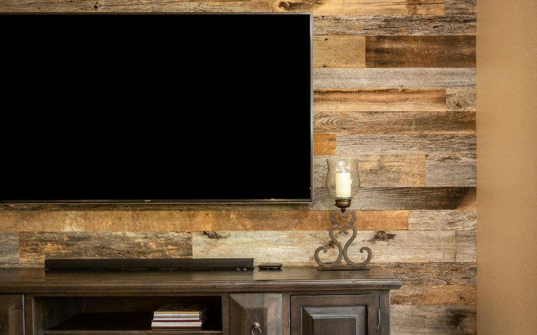 Reclaimed Wood Entertainment Niche