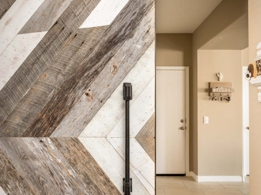 Chevron Pattern Reclaimed Door