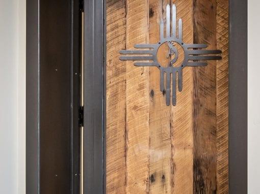 Kokopelli Steel & Wood Door
