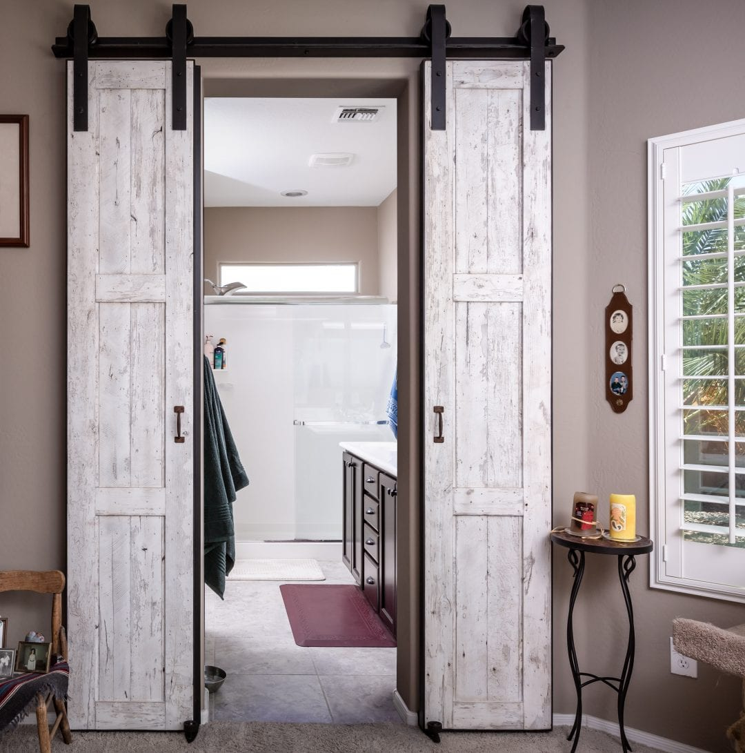 Speckled White Bi-Part Doors