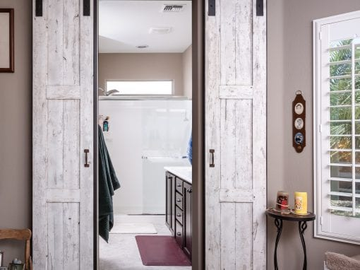 Speckled White Bi-Part Doors
