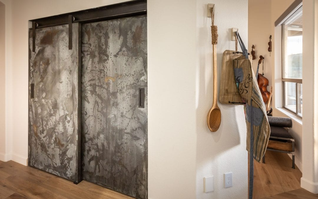 Galvanized I-Beam Pantry Doors