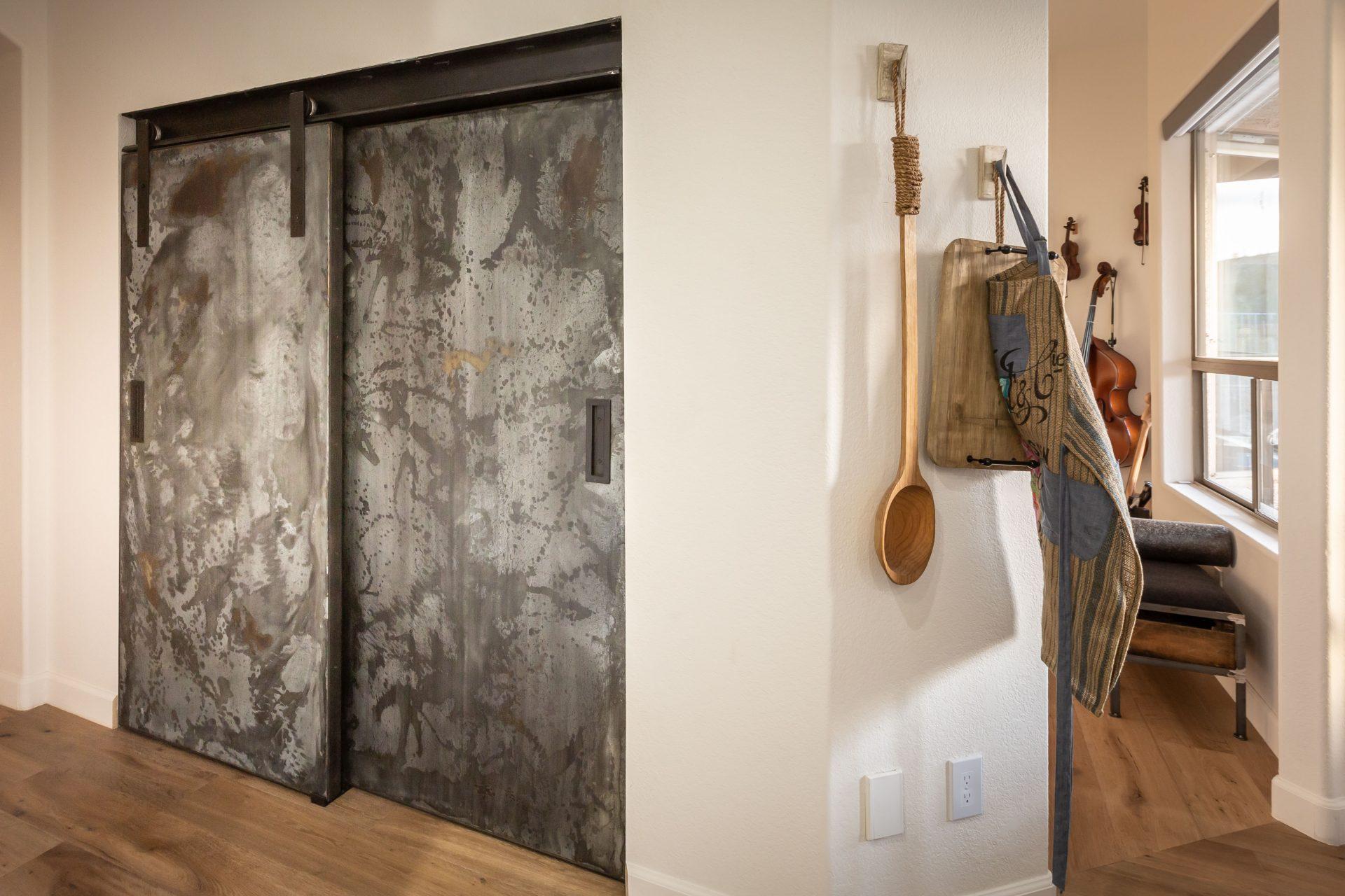 Galvanized I Beam Pantry Doors Porter Barn Wood
