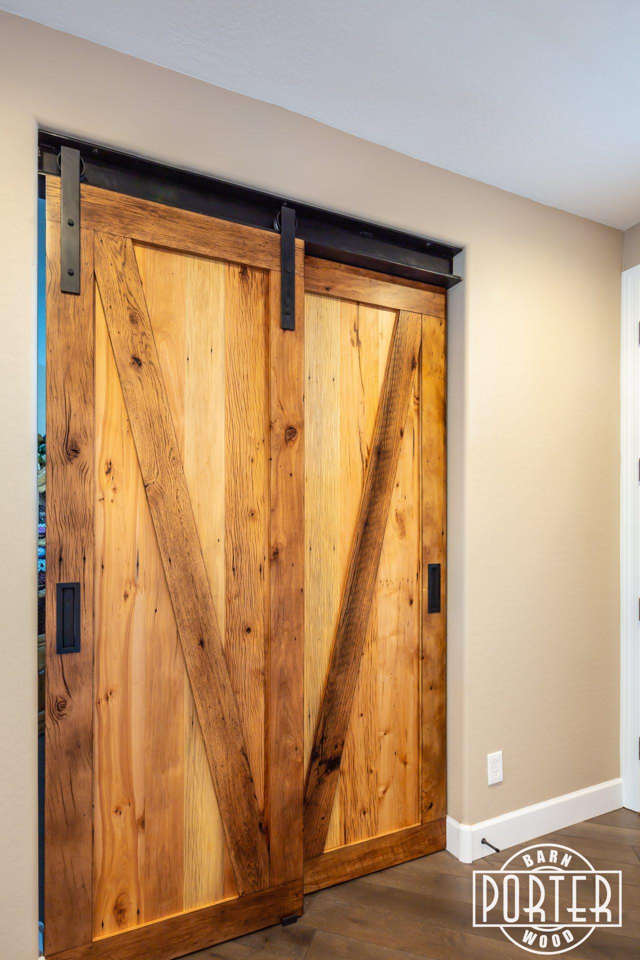 Picture of: I Beam Bypass Sliding Doors Porter Barn Wood