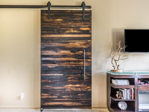 Speckled Black Sliding Door
