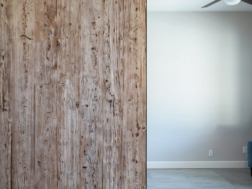 Grey Wash Mushroom Wood Door
