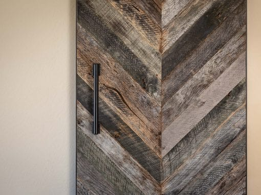 Modern Chevron Pattern Door