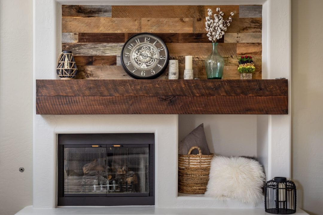 Reclaimed Mantel & Wall Decor