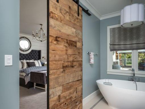 Master Bathroom Sliding Door