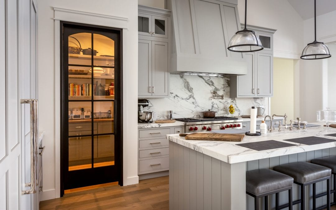 Steel & Glass Pantry Door
