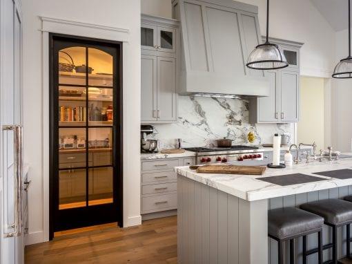 Steel & Glass Pantry Door