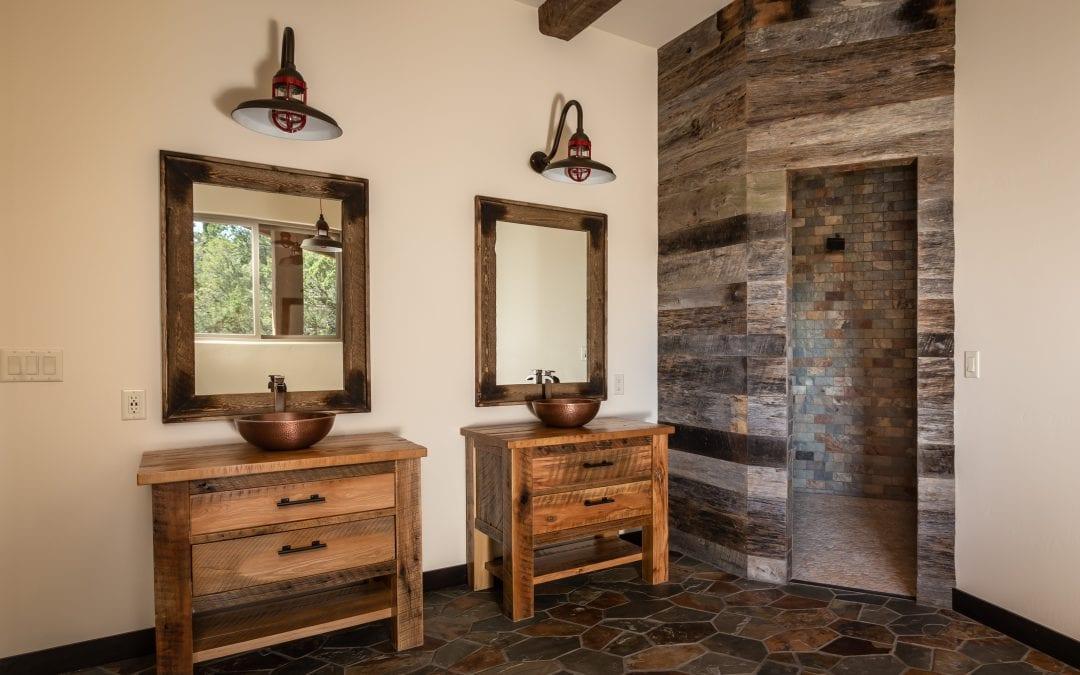 Master Bathroom Reclaimed Vanities
