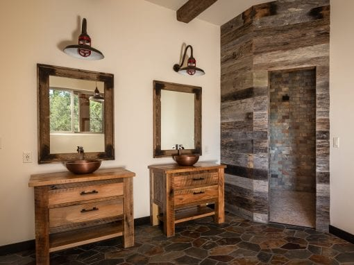 Master Bathroom Reclaimed Vanities