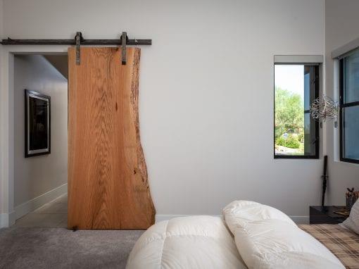 Modern Live Edge Sliding Door