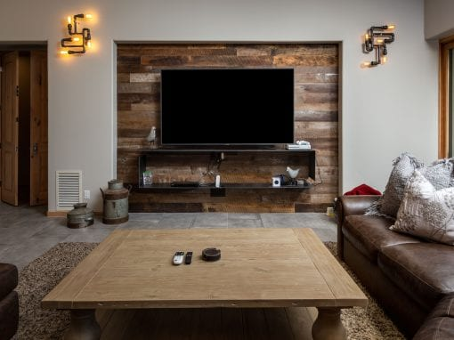 Custom Shelving Entertainment Wall