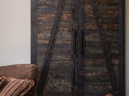 Speckled Black Bi-part Doors