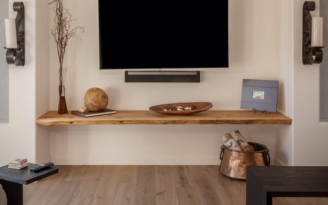 Modern Live Edge Shelf