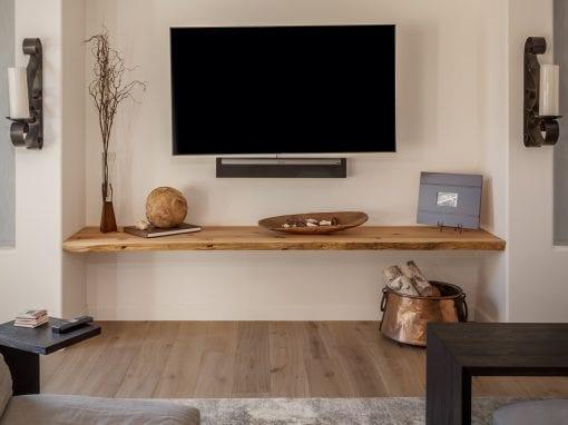 Modern Live Edge Shelf