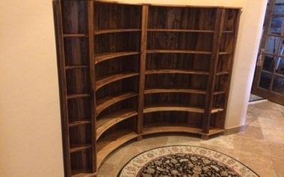 Mark's Mushroom Wood Bookcase