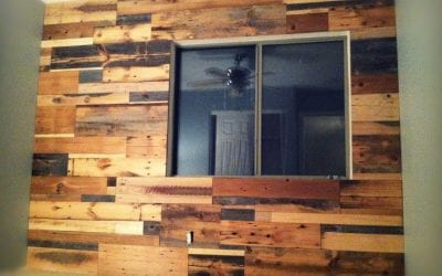 Mixed Barn Wood Wall