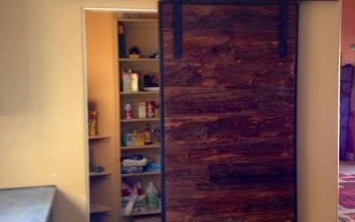 Mushroom Wood Sliding Door