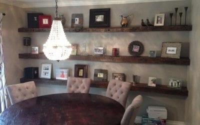 Oak Joist Shelves