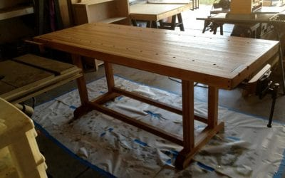 Reclaimed Oak Workbench