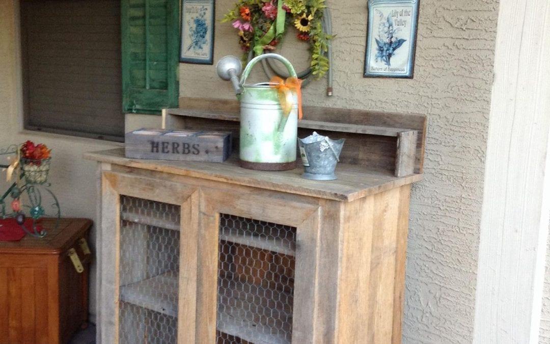 Sue's Potting Cabinet