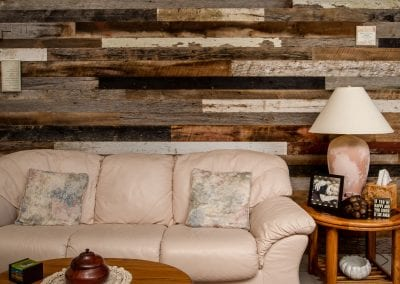 Tobacco Shorts Feature Wall