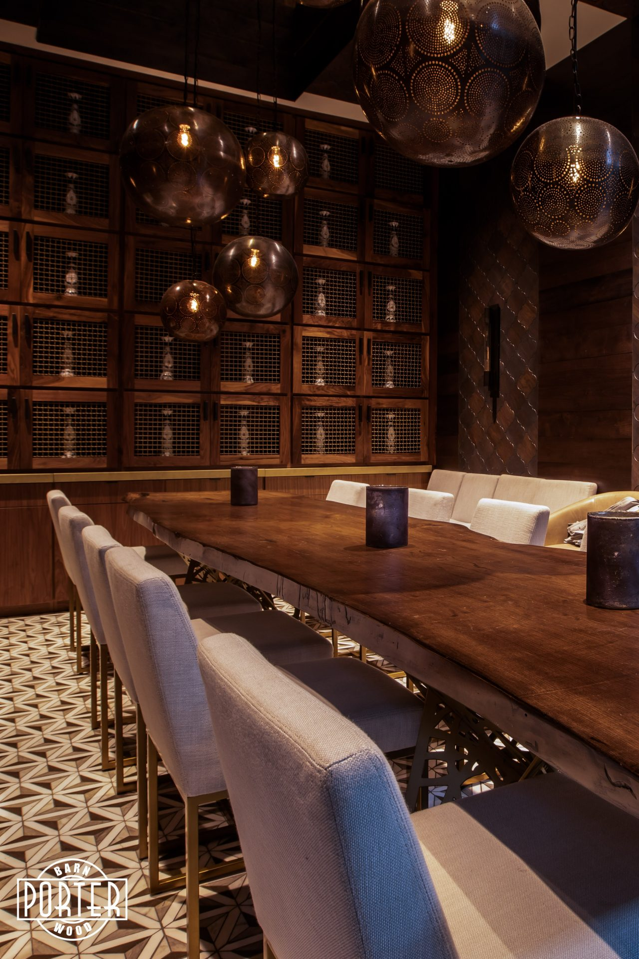Toca Madera Private Dining Room Porter Barn Wood