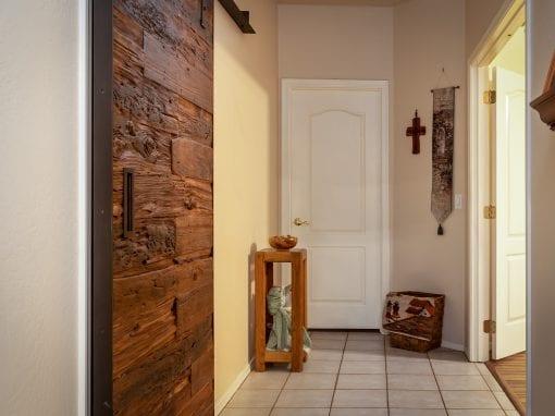 Mushroom Wood Hallway Sliding Door