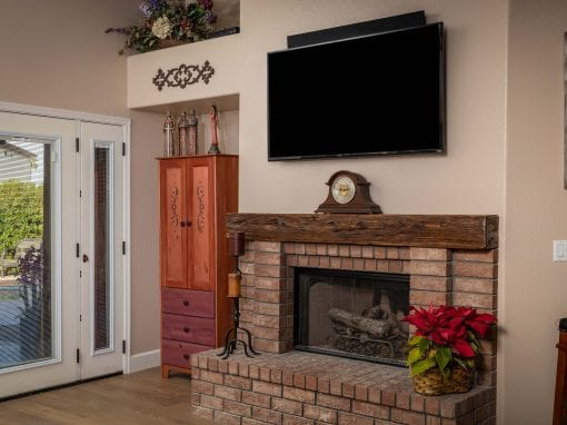 Mushroom Wood Fireplace Mantel