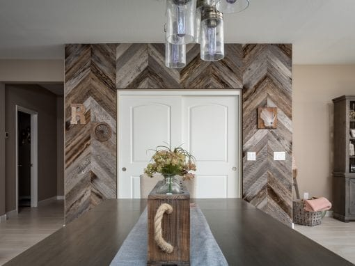 Tobacco Grey Chevron Pantry