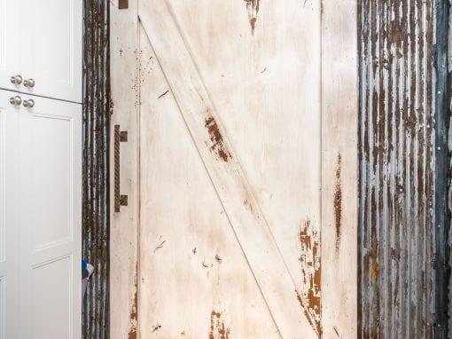 Knotty Alder Sliding Door