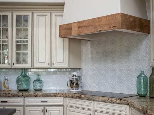 Reclaimed Wood Hood Accent