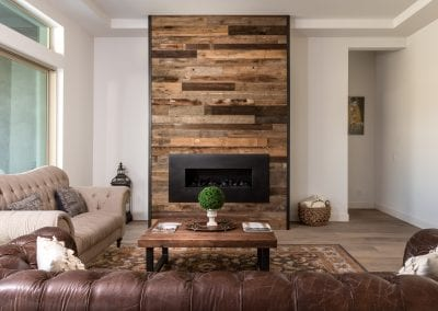 Tobacco Brown Fireplace