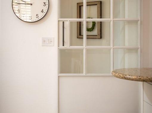 White & Glass Sliding Door