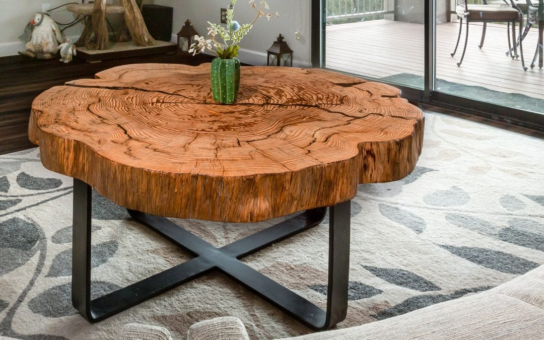 End Grain Round Coffee Table