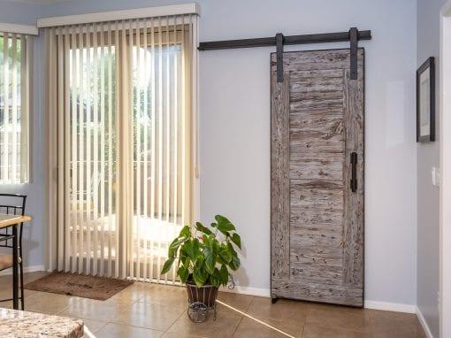 Mushroom Wood Pantry Door