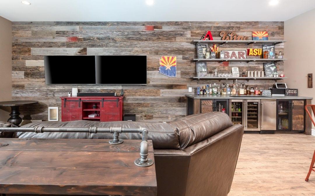 Custom Bar & Reclaimed Wood Wall