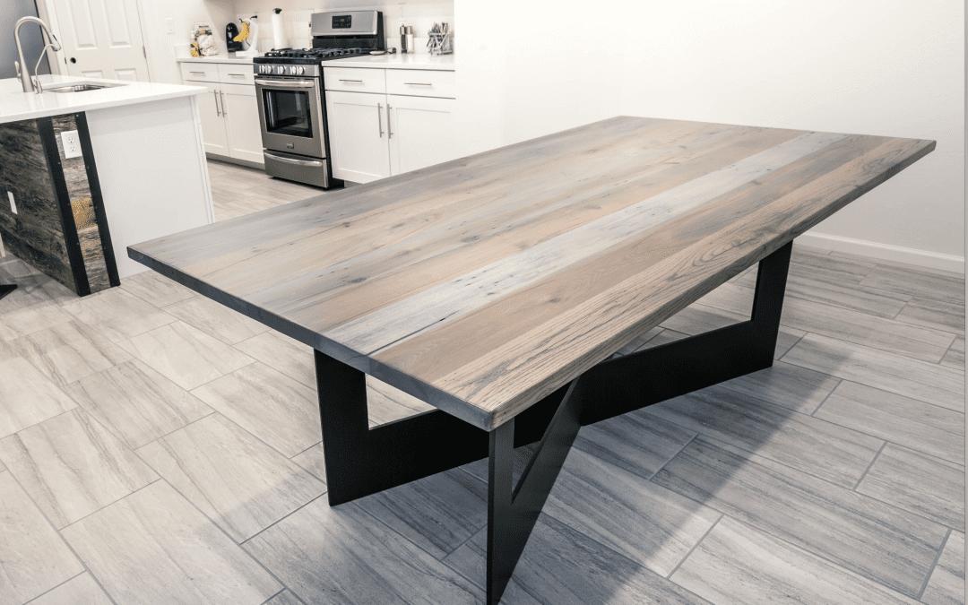 Custom Grey Dining Table