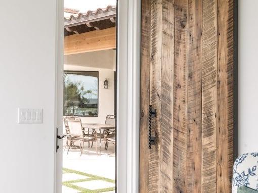 Vertical Plank Sliding Door