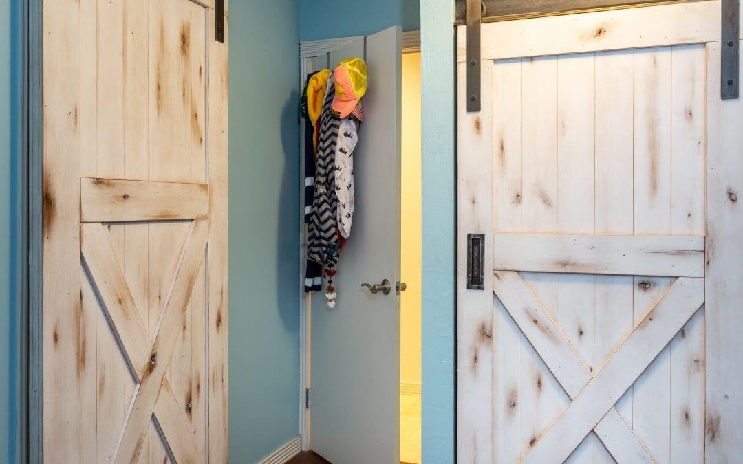 Matching Knotty Alder Sliding Doors