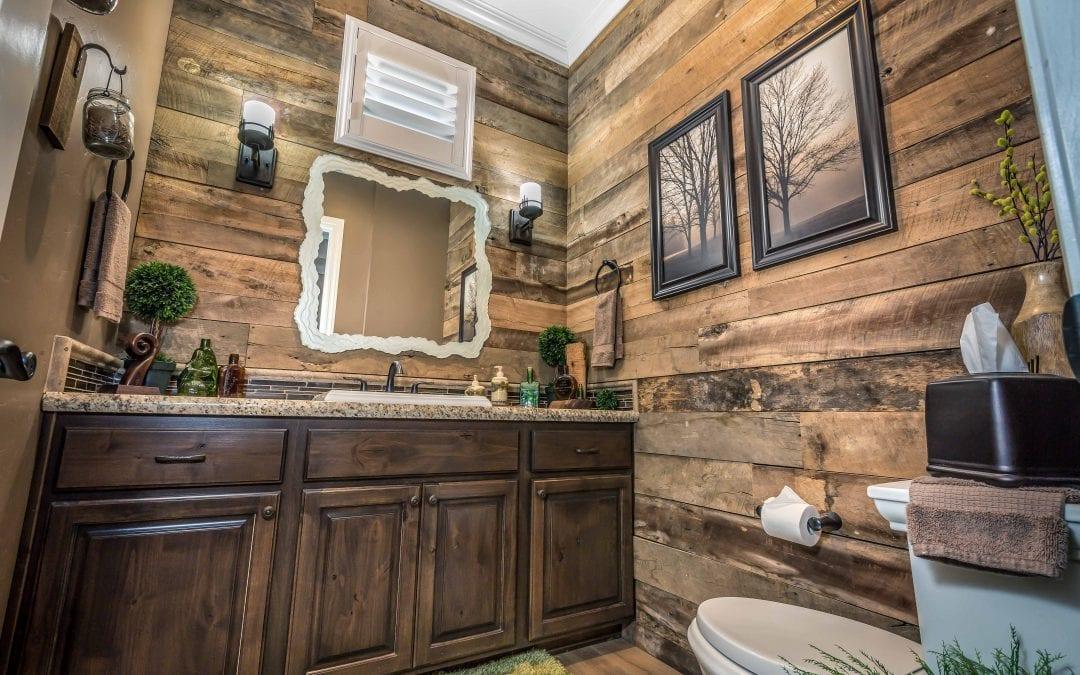 Tobacco Brown Bathroom Wall