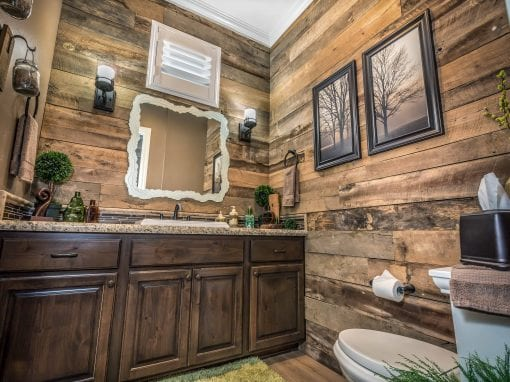 Tobacco Brown Bathroom Wall