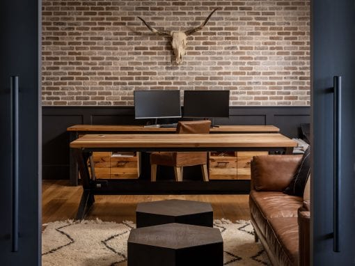 Custom Mixed Hardwood Desks