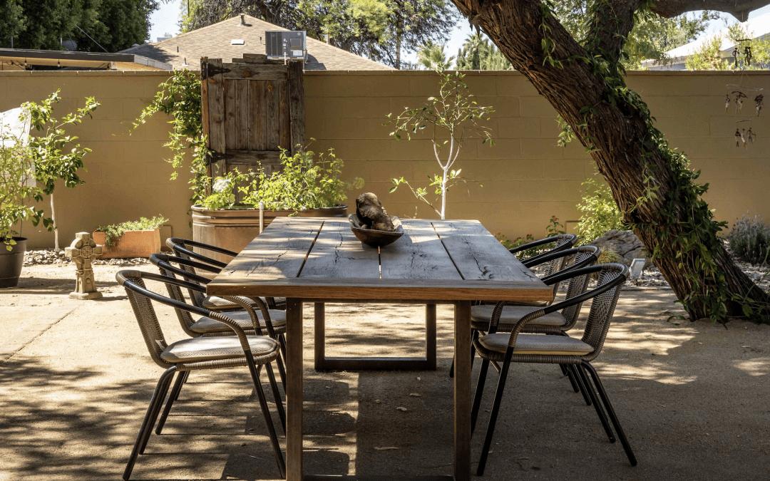 Reclaimed Oak Outdoor Table
